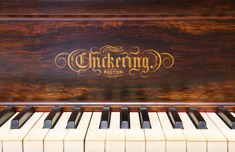 piano gallery - chickering cocked hat piano